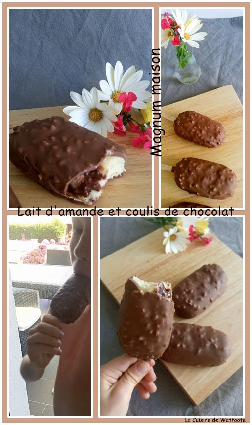 magnum maison lait amande chocolat