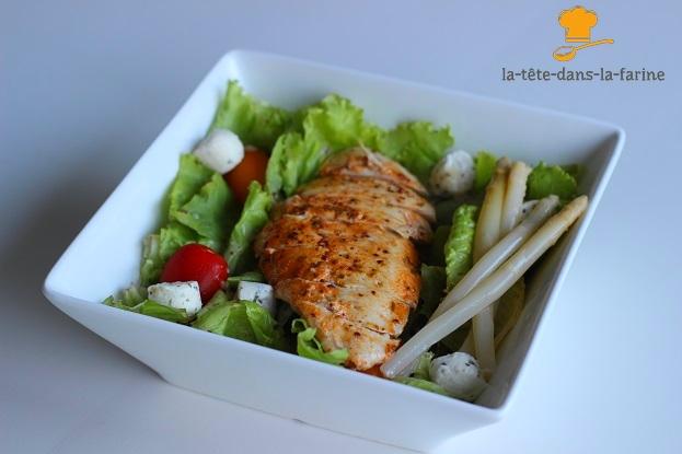Salade poulet mariné