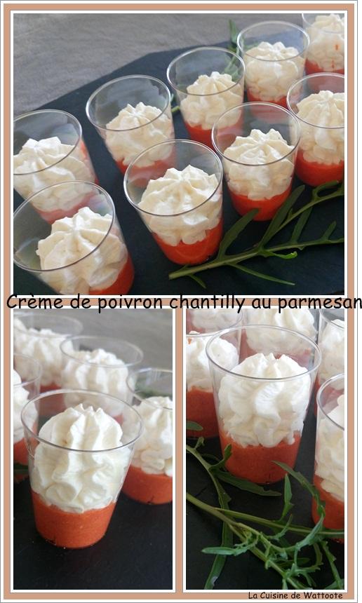 crème poivron chantilly parmesan