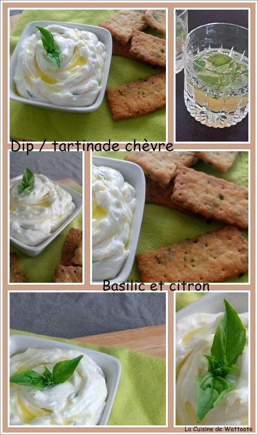 dip tartinade chèvre basilic citron