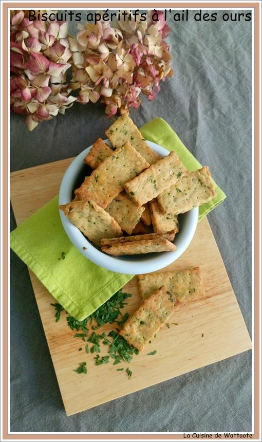 biscuits apéritifs ail des ours