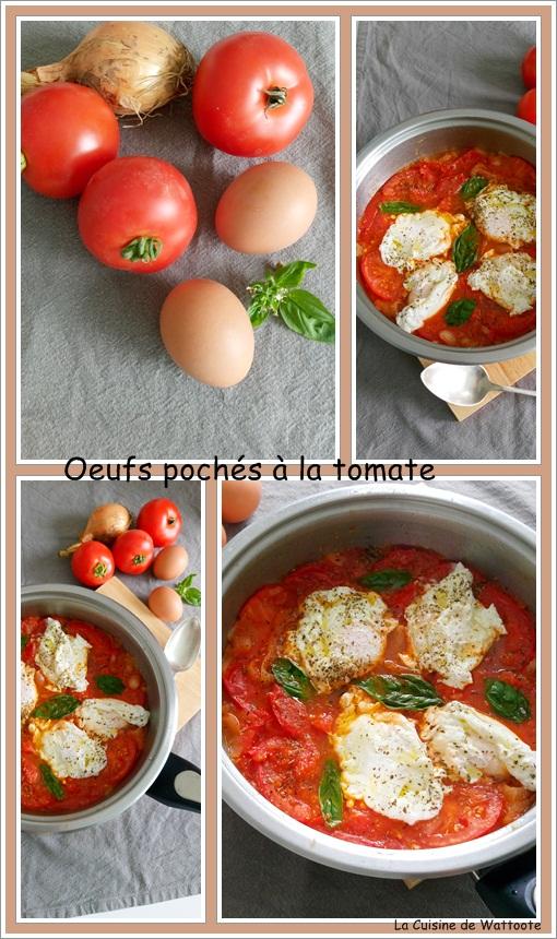 oeufs pochés à la tomate
