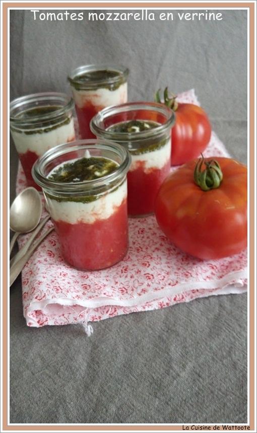 tomates mozzarella verrine