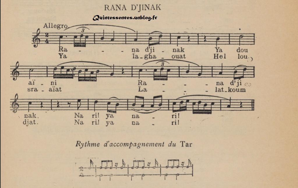 La chanson populaire algérienne : 'Rana Djinek'  dans Musique 160919120524202358