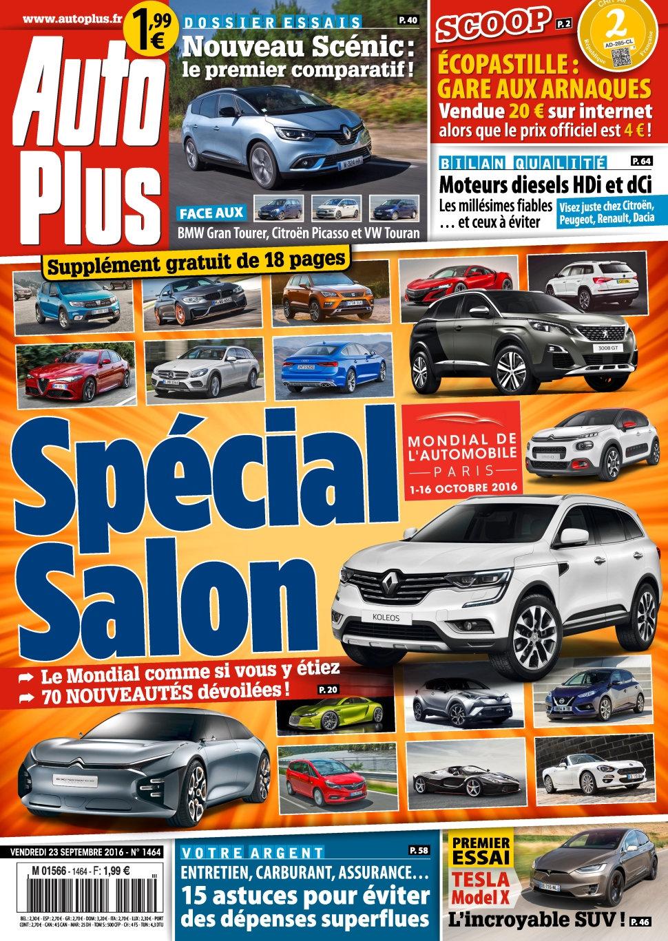 Auto Plus N°1464 - 23 Septembre 2016