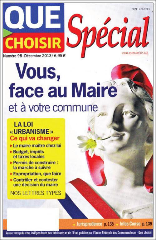 Que Choisir N°98 - Spécial Vous, Face Au Maire