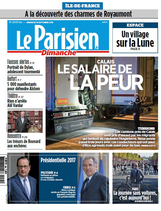 Le Parisien et Votre guide du Dimanche 25 septembre 2016