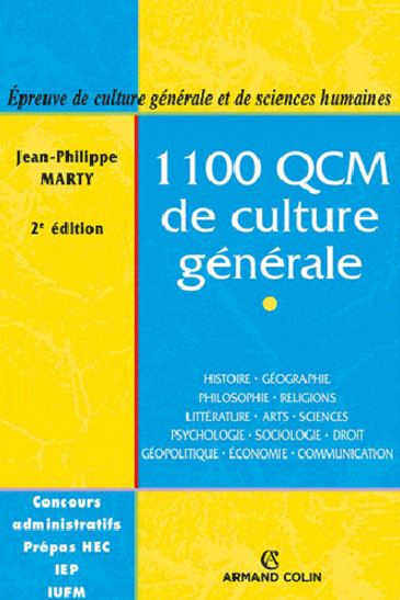 1100 QCM de culture générale. Armand Colin