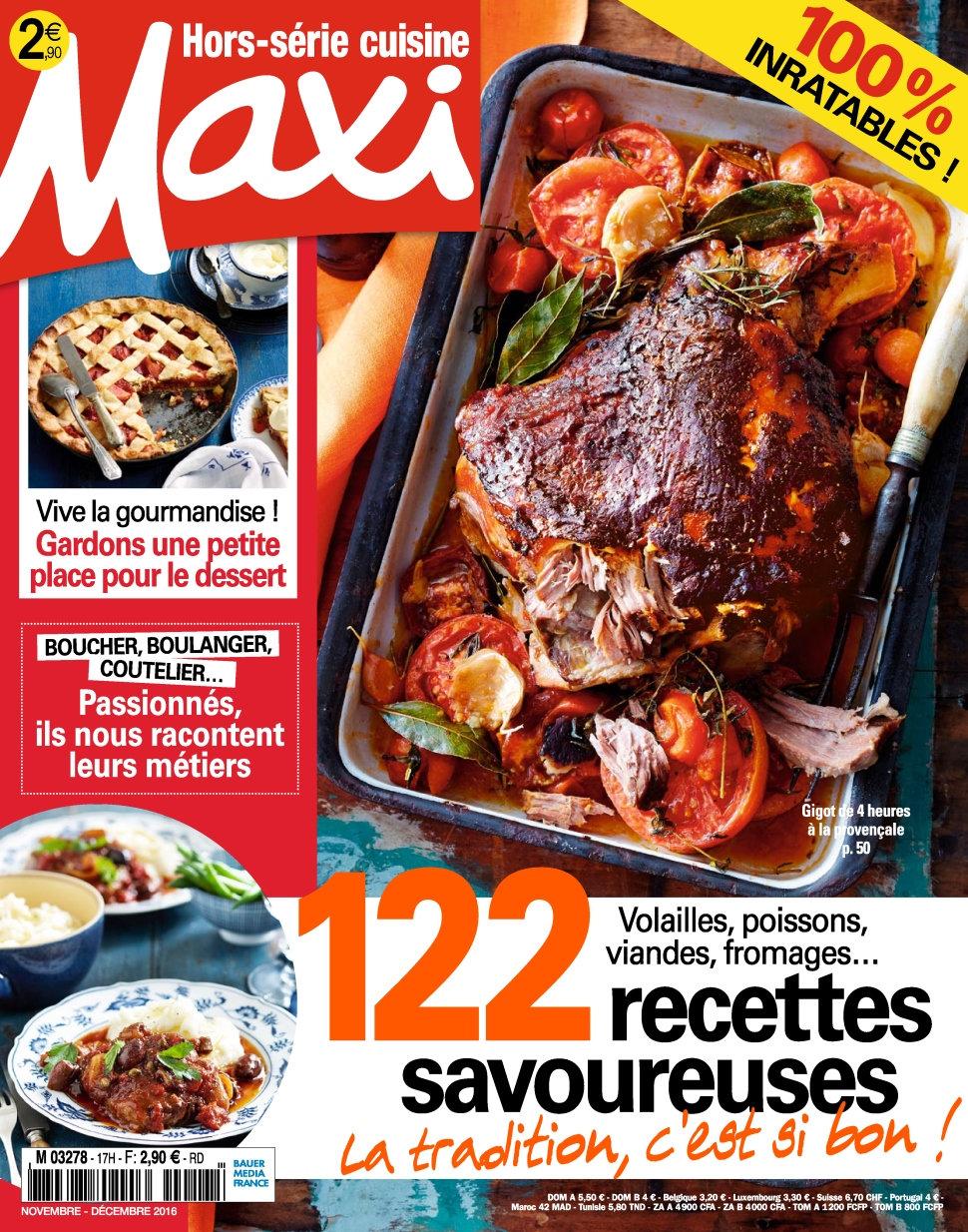 Maxi Hors Série Cuisine N°31 - Novembre/Decembre 2016