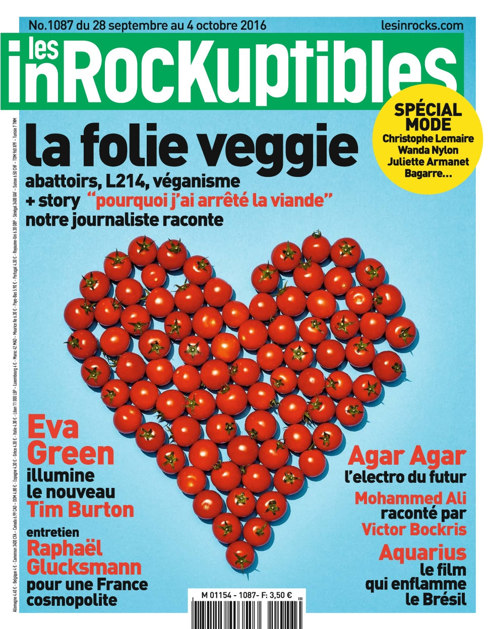 Les Inrockuptibles N°1087 - 28 Septembre au 04 Octobre 2016