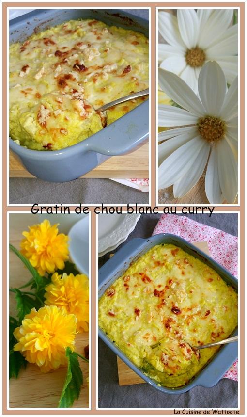 gratin de chou blanc au curry