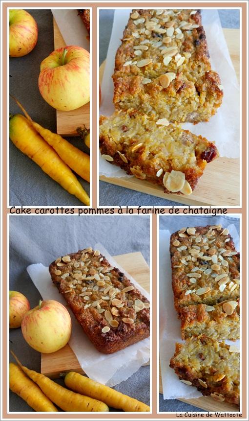 cake carotte pomme farine de chataigne