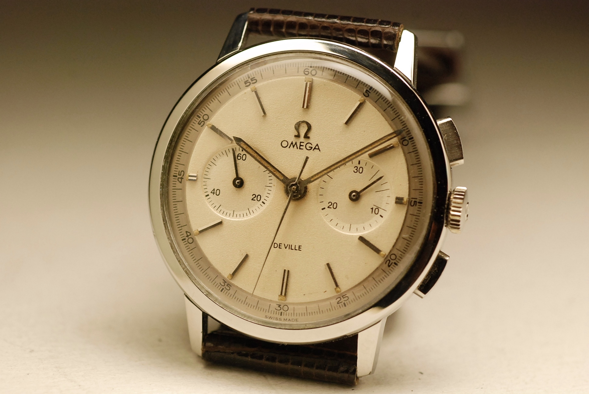 ancienne montre omega chronographe cal 320 acier 1960 vintage watch 35mm steel ebay. Black Bedroom Furniture Sets. Home Design Ideas