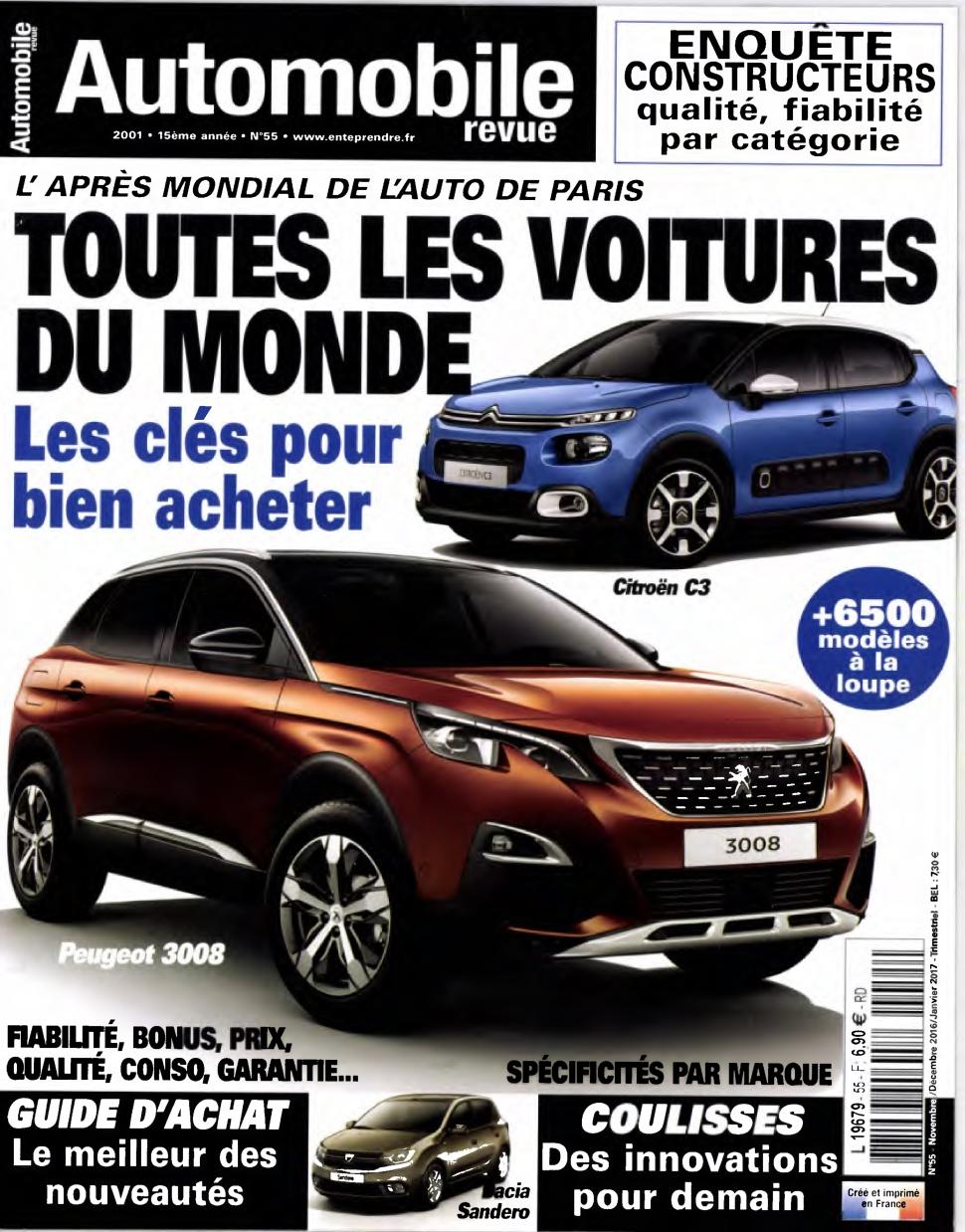 Automobile revue 55 - Novembre 2016 - Janvier 2017