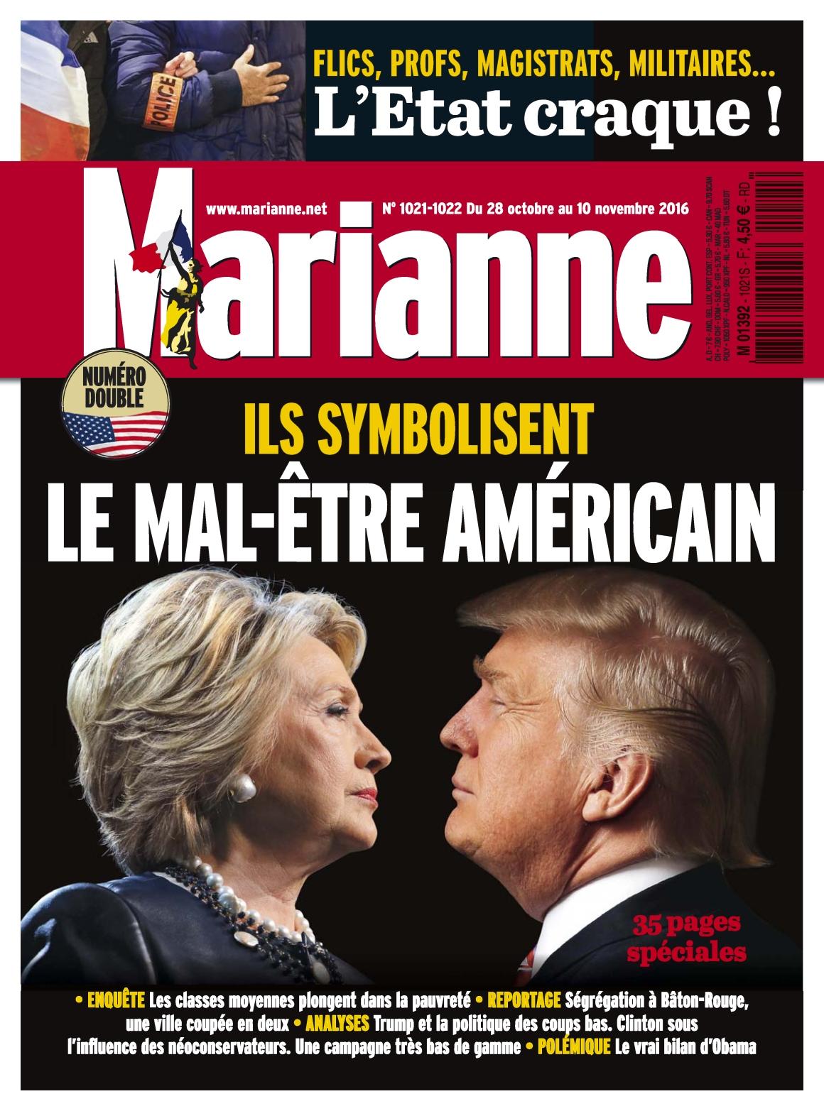Marianne 1021-1022 - 28 Octobre au 10 Novembre 2016