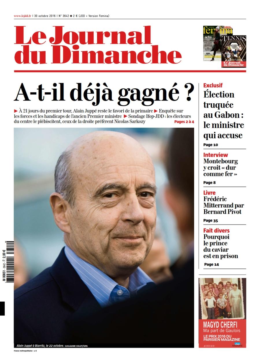 Le Journal du Dimanche 3642 du 30 Octobre 2016