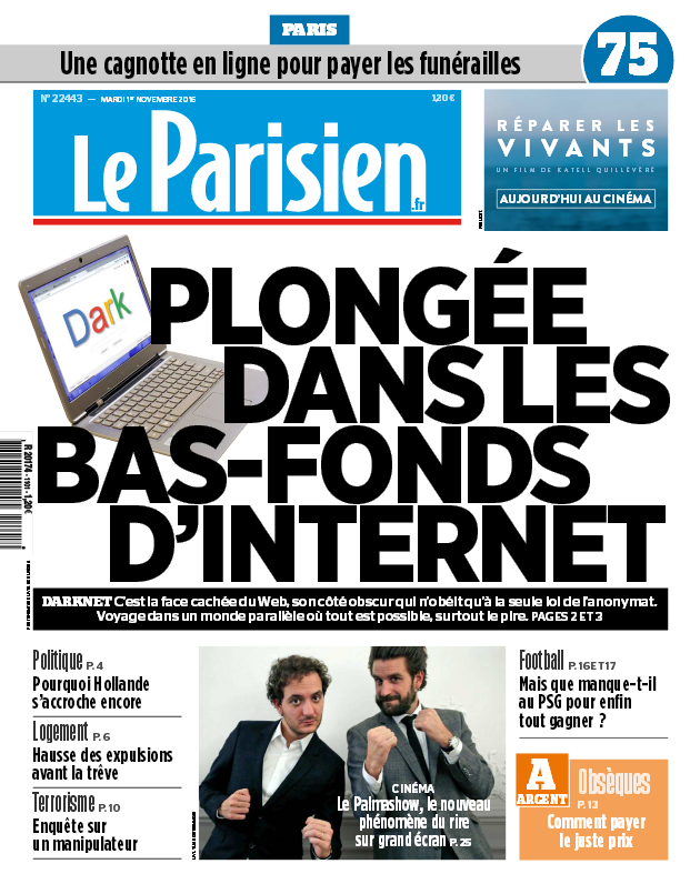 Le Parisien + Journal de Paris du mardi 01 novembre 2016