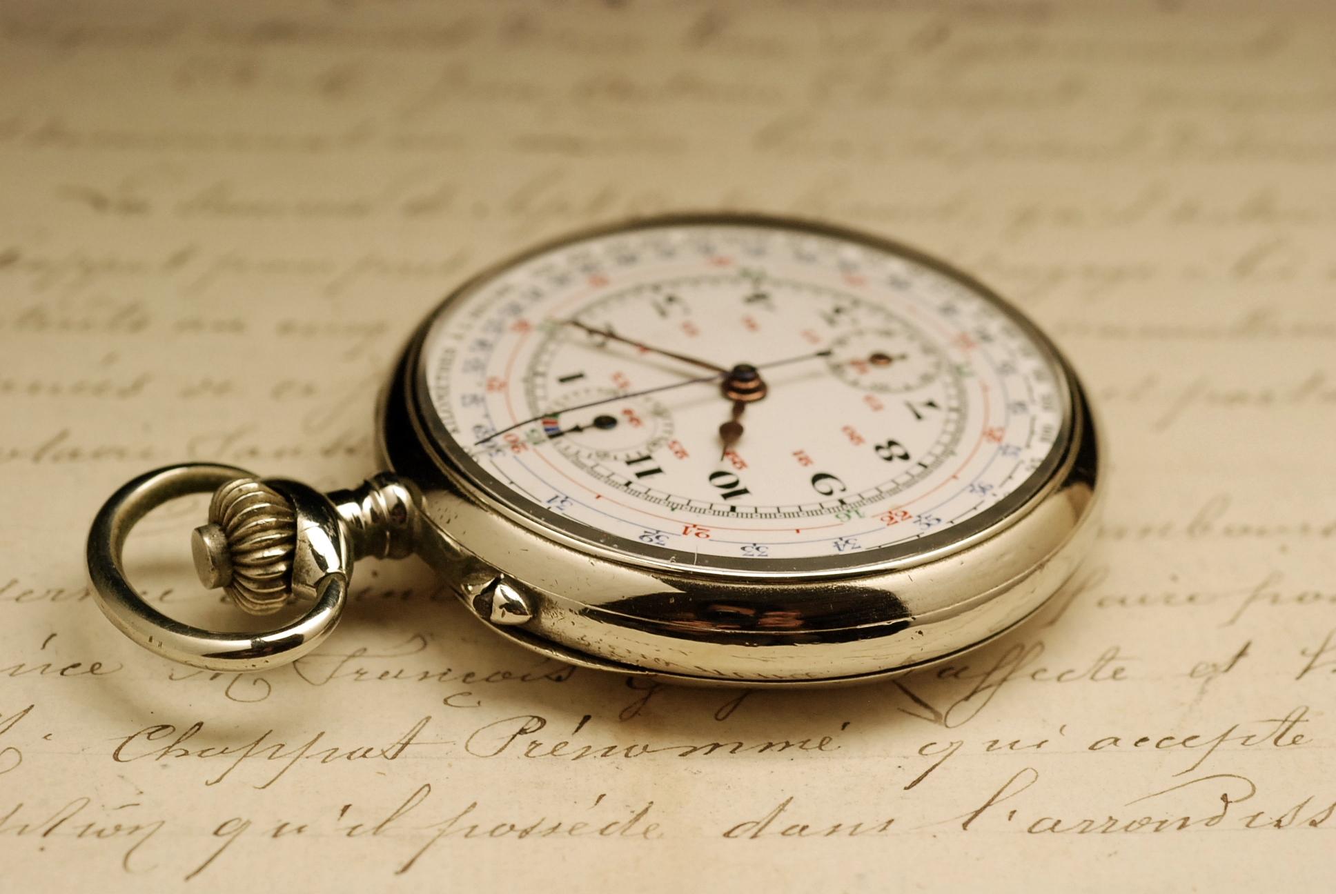 ancienne montre gousset chronographe valjoux ann es 1910. Black Bedroom Furniture Sets. Home Design Ideas