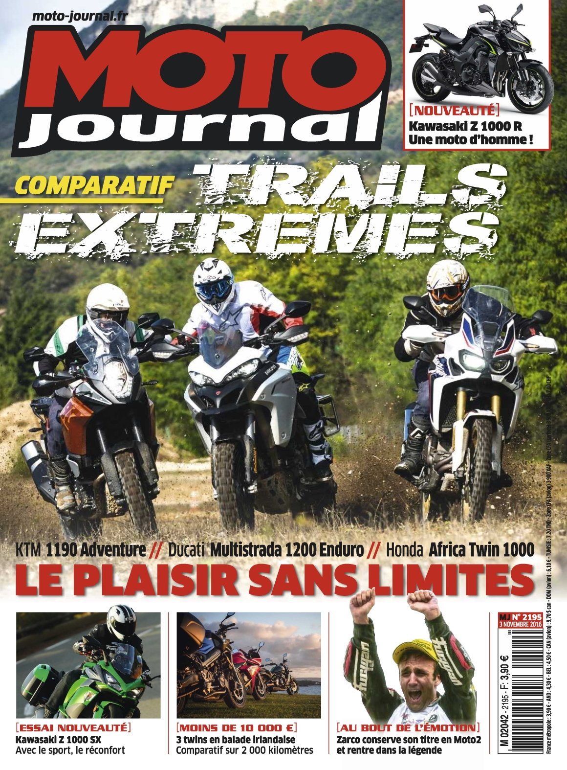 Moto Journal 2195 - 3 au 9 Novembre 2016