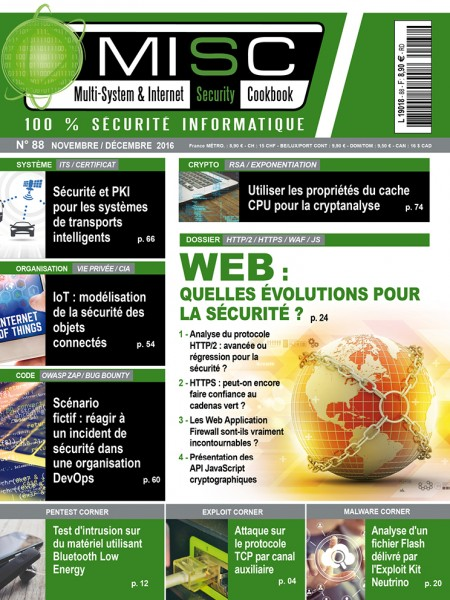 Multi-System & Internet Security Cookbook N°88 - Novembre/Decembre 2016
