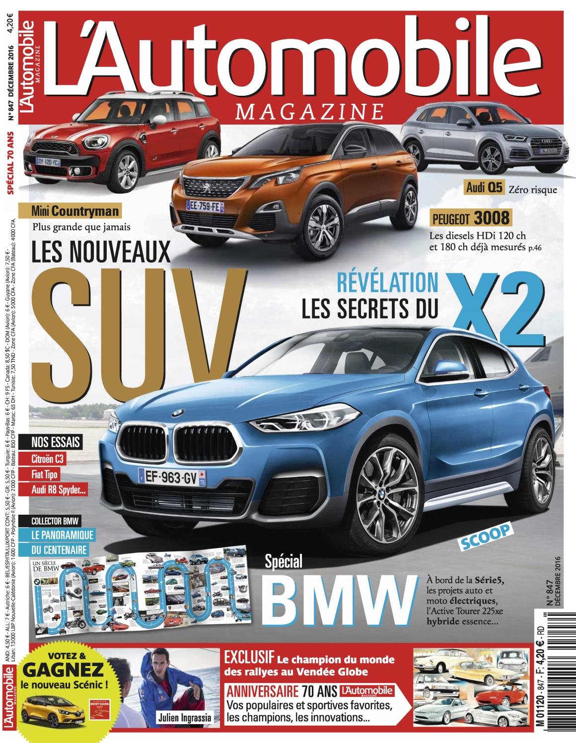 L Automobile magazine N°847 - Décembre 2016