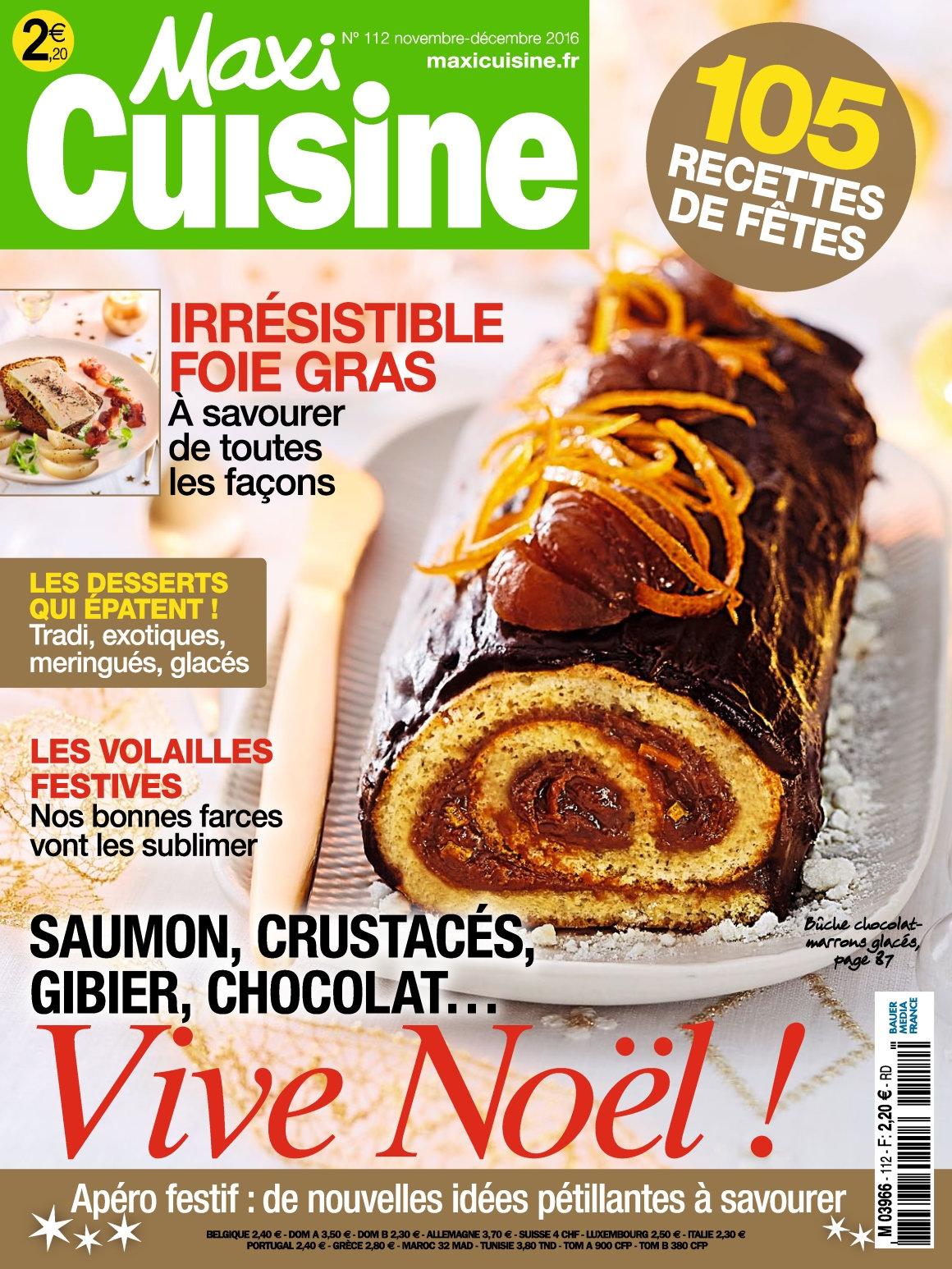 Maxi Cuisine 112 - Novembre/Décembre 2016