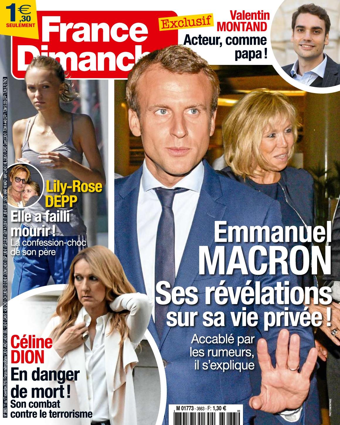 France Dimanche 3663 - 11 au 17 Novembre 2016