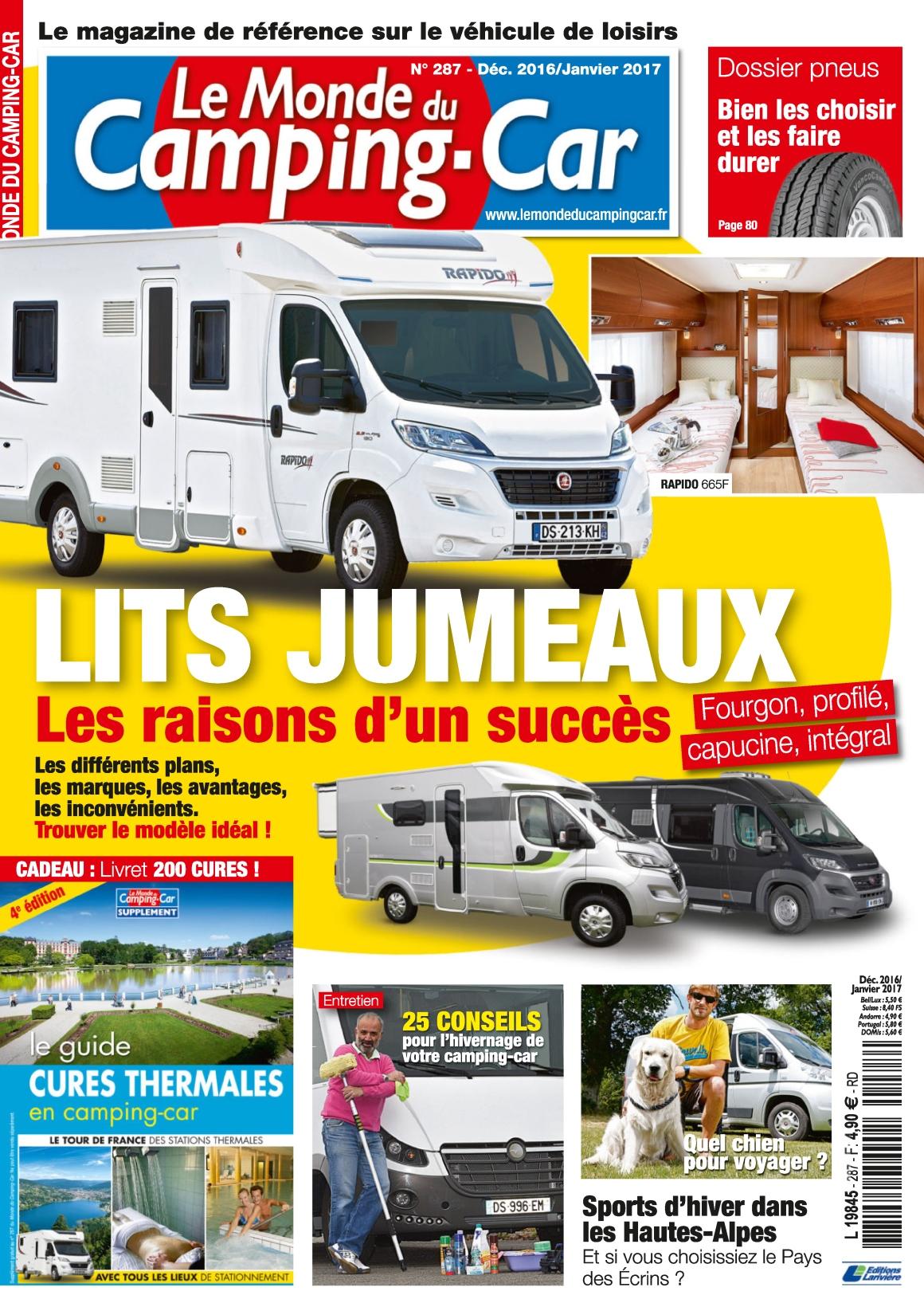 Le Monde du Camping-Car 287 - Décembre 2016/Janvier 2017