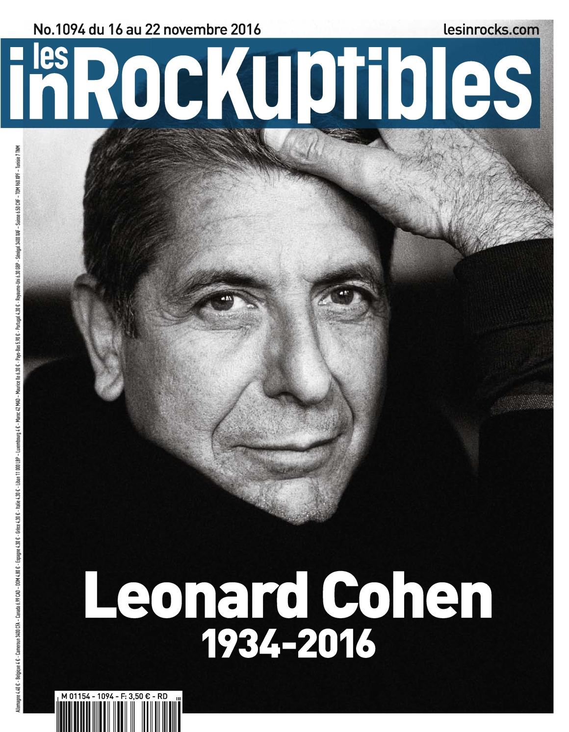 Les Inrockuptibles 1094 - 16 au 22 Novembre 2016