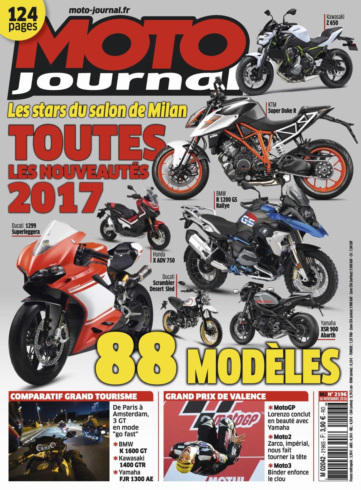 Moto Journal N°2196 - 16 Novembre 2016