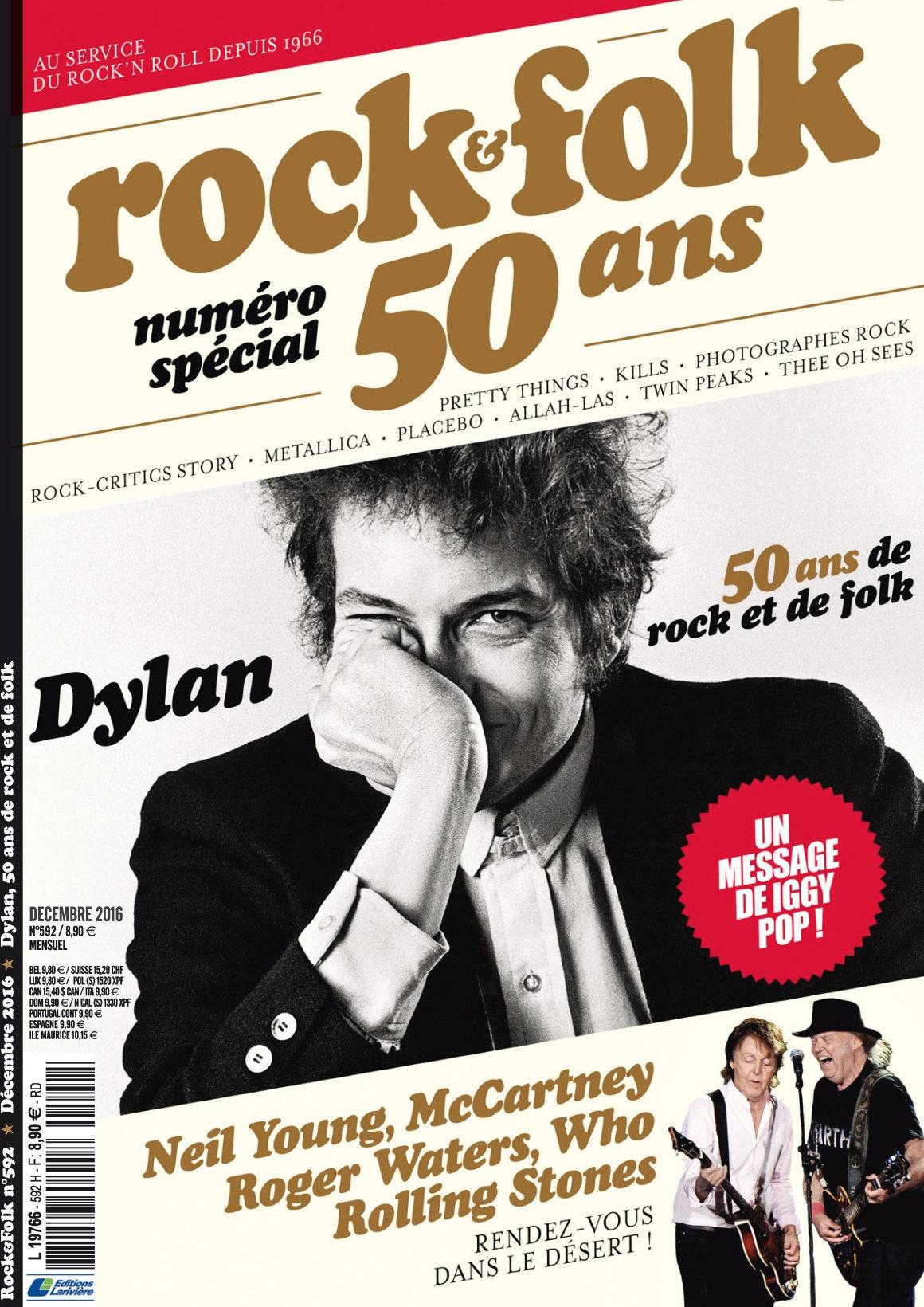 Rock & Folk 592 - Décembre 2016