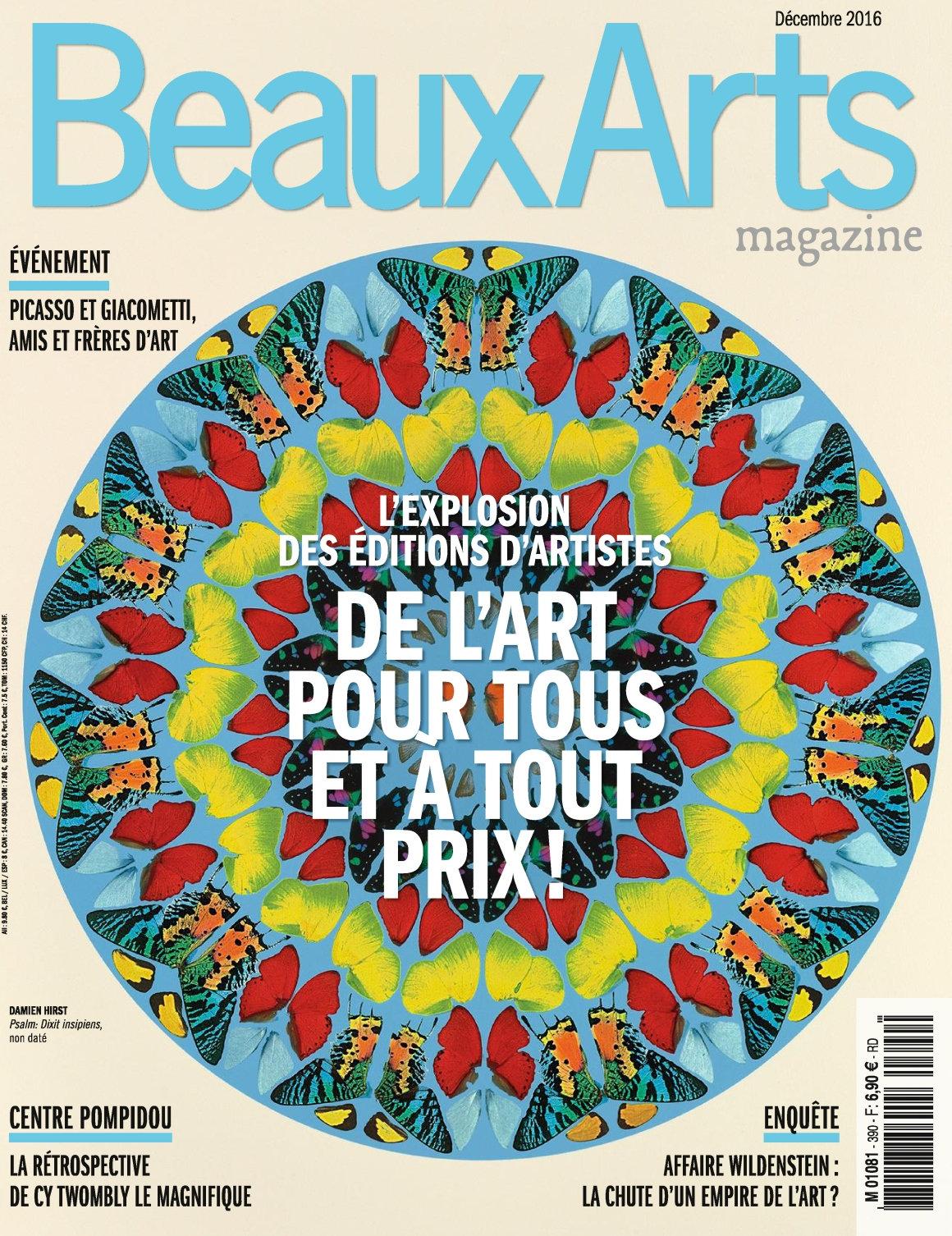 Beaux Arts magazine 390 - Décembre 2016