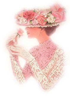 femme rose poudre