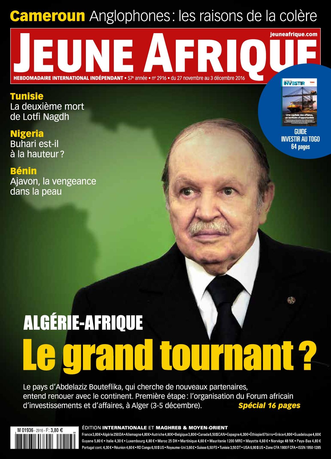 Jeune Afrique N°2916 - 27 Novembre au 3 Décembre 2016
