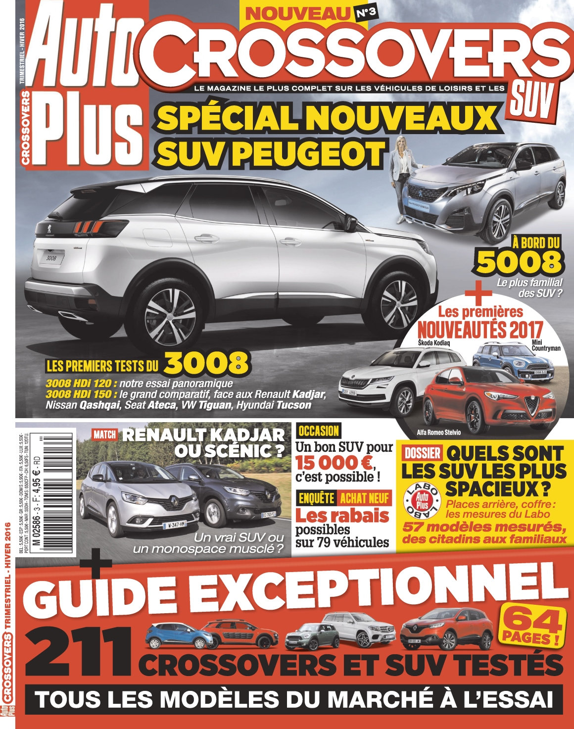 Auto Plus Hors Série Crossovers N°3 - Hiver 2016