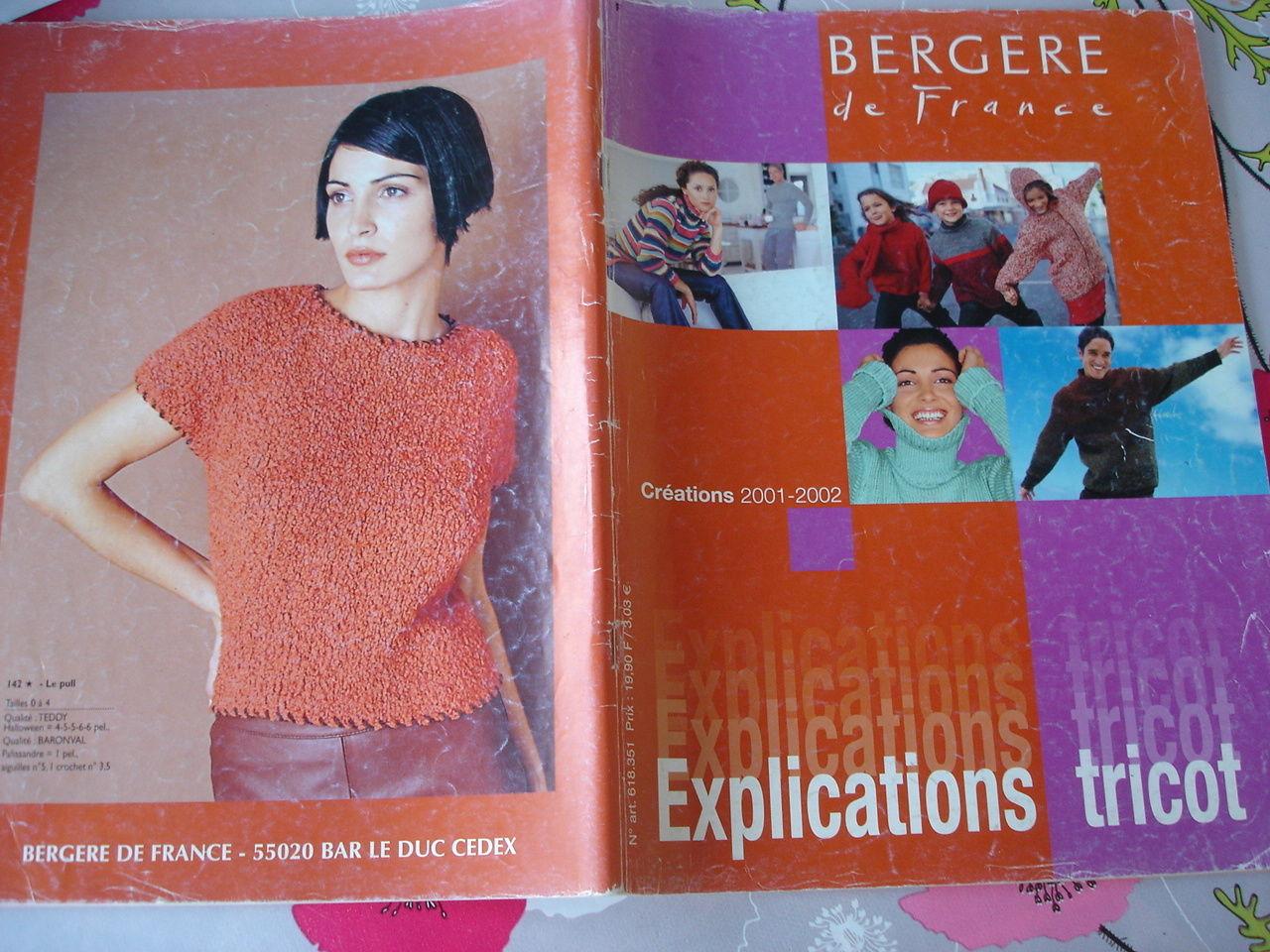 livre catalogue explications guide tricot berg re de france cr ations 2001 2002 ebay. Black Bedroom Furniture Sets. Home Design Ideas