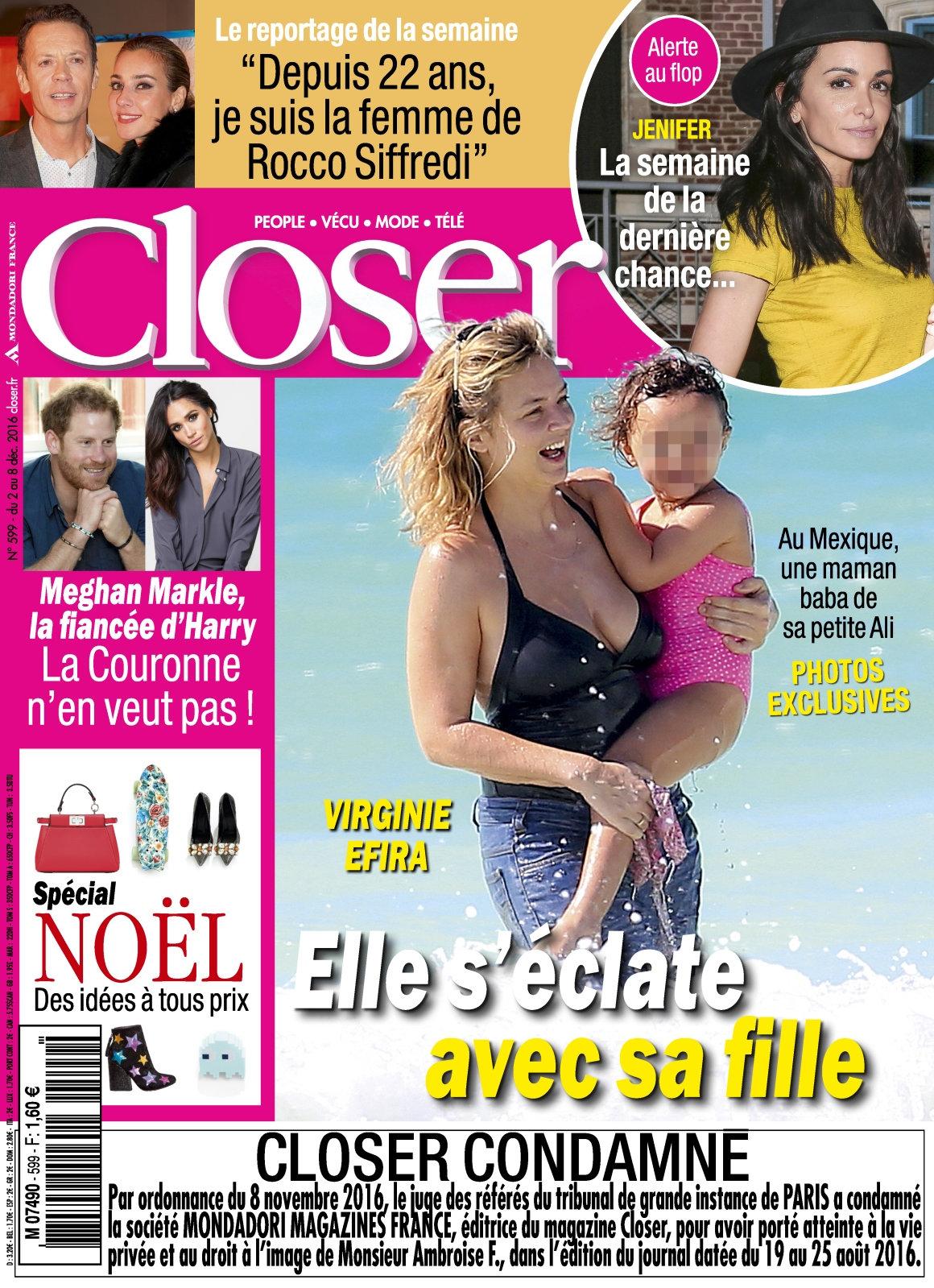 Closer N°599 - 2 au 8 Décembre 2016
