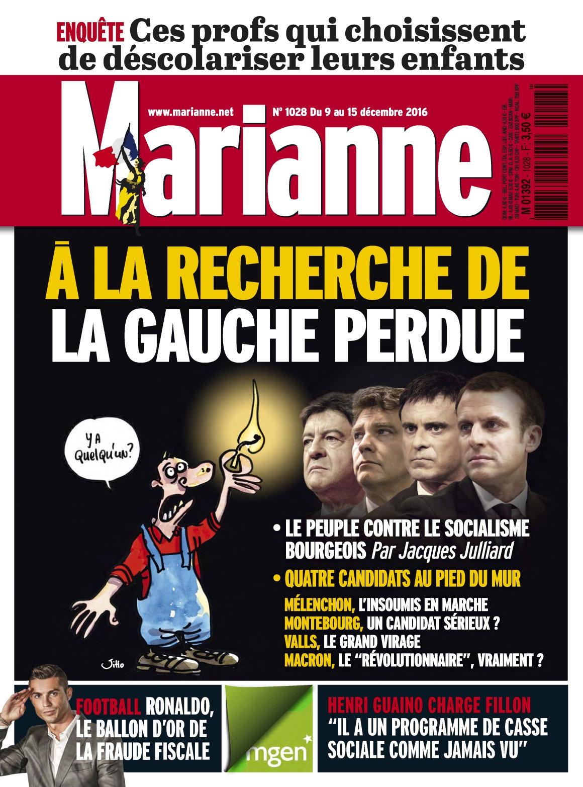 Marianne N°1027 - 9 au 15 Décembre 2016
