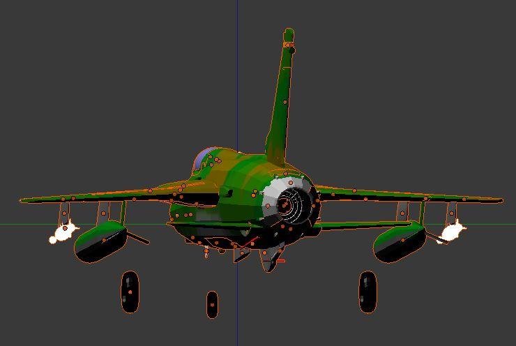 F105D de l'arrière avec rampe réacteur