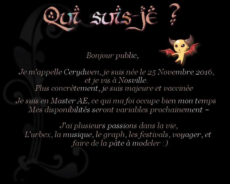Bonjour les Crow ! :) 161214025449132208