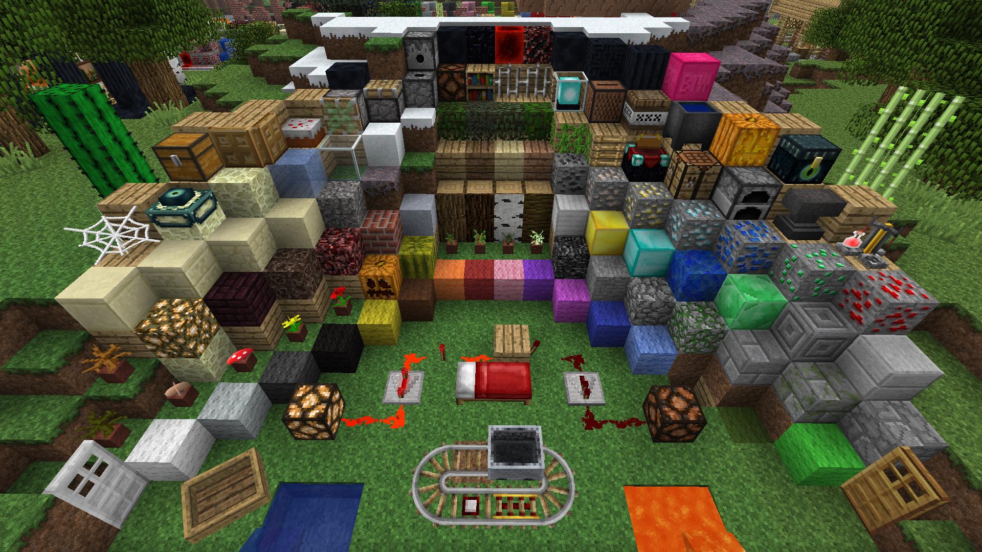 Minecraft blocks and items list