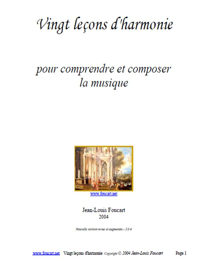 20 leçons d'harmonie - Solfège Foucard.