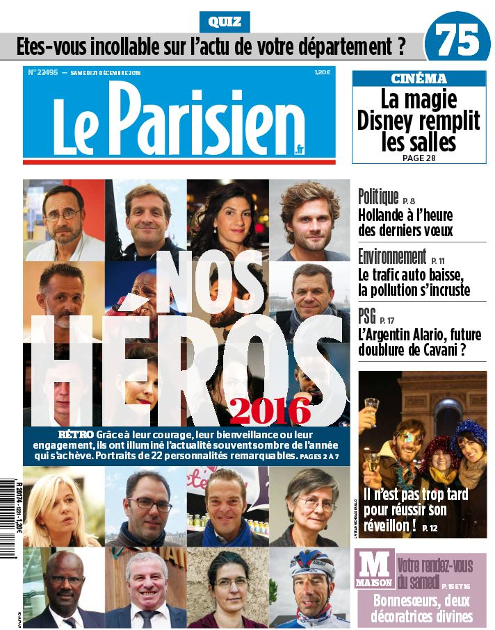 Le Parisien du Dimanche 1 Janvier 2017