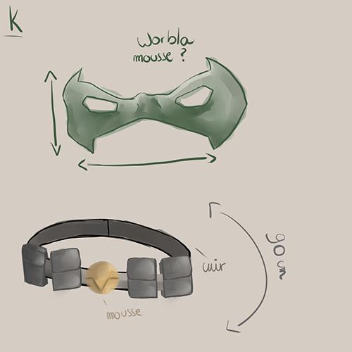ceinture masque