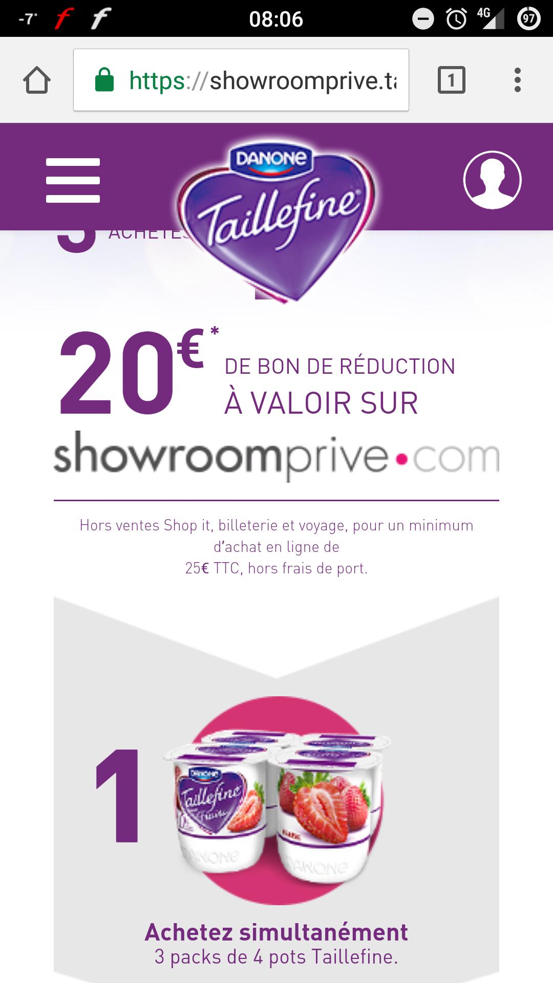 20 offerts en bon d 39 achat d s 25 sur showroomprive pour - Code promo frais de port showroomprive ...
