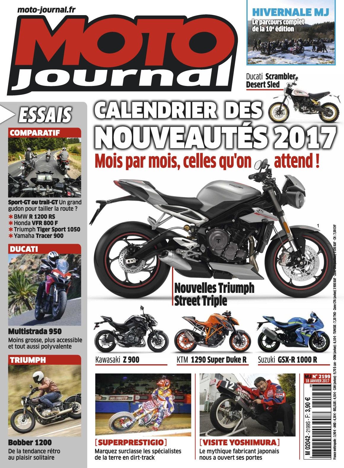 Moto Journal N°2199 - 18 Janvier 2017