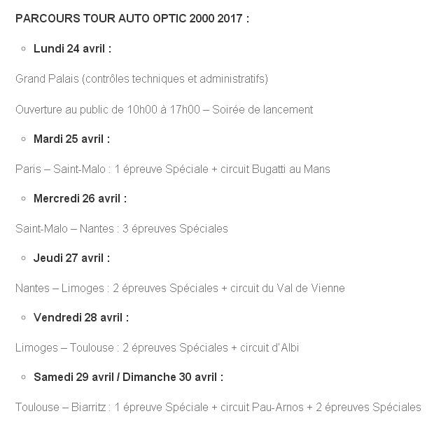 Tour Auto 2017 du 24 au 30 avril 2017 170119102156639663