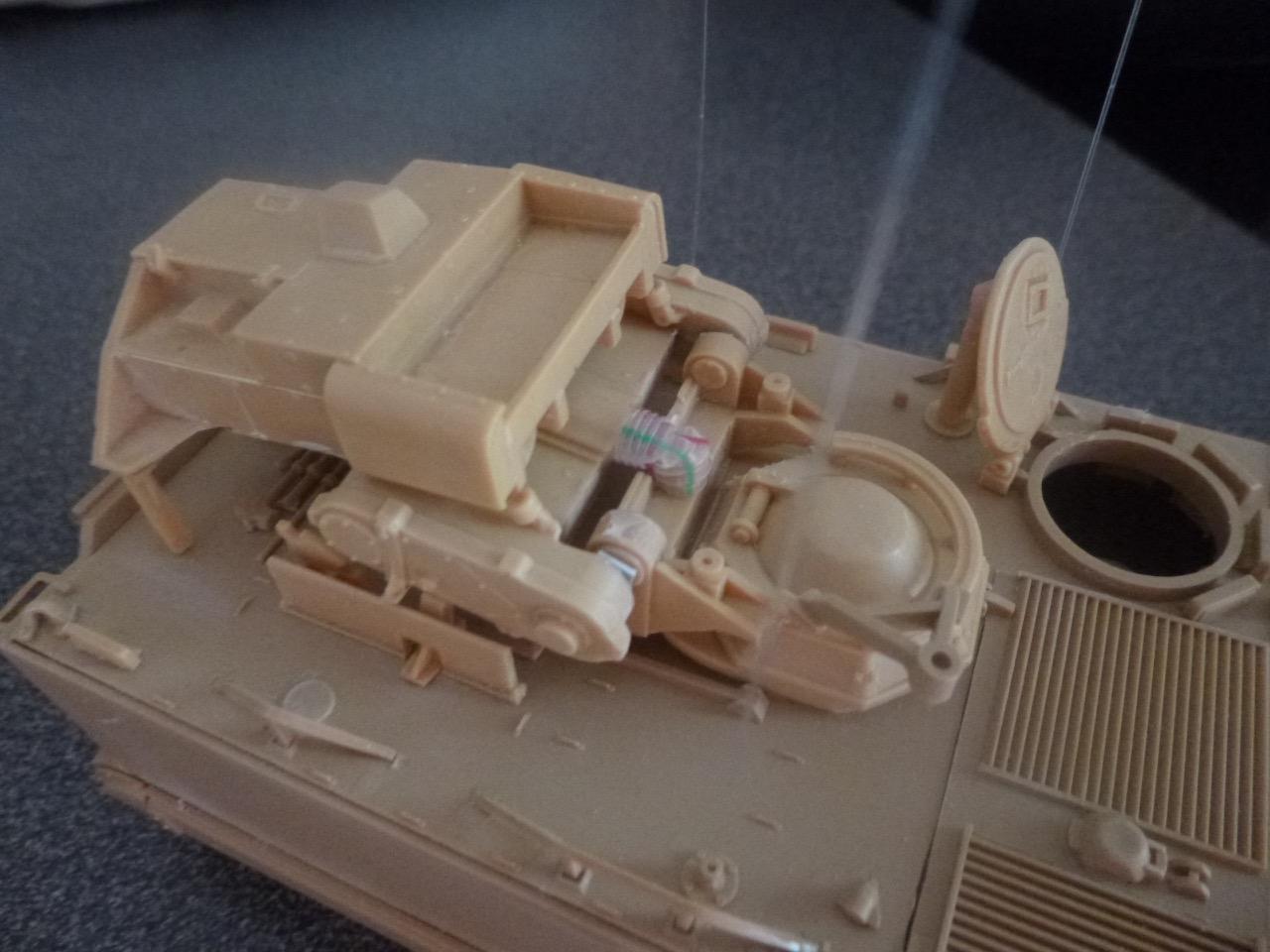 M113 / M109 Tow, une conversion en résine Verlinden au 1/35, base Tamiya 170122124108383374