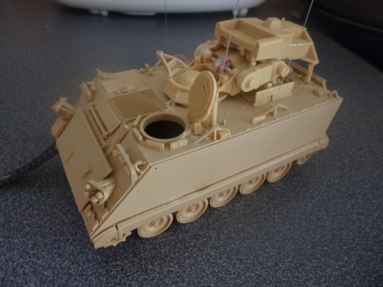 M113 / M109 Tow, une conversion en résine Verlinden au 1/35, base Tamiya 170122124127118371