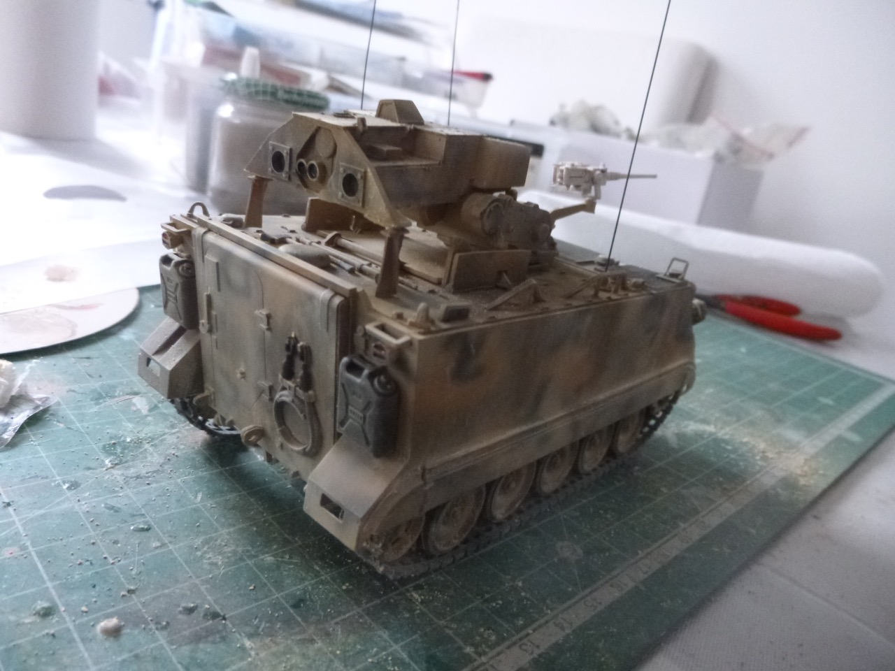 M113 / M109 Tow, une conversion en résine Verlinden au 1/35, base Tamiya 170123124048257262